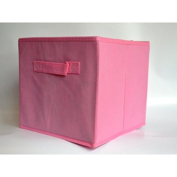 panier cube de rangement pliable rose clair achat. Black Bedroom Furniture Sets. Home Design Ideas