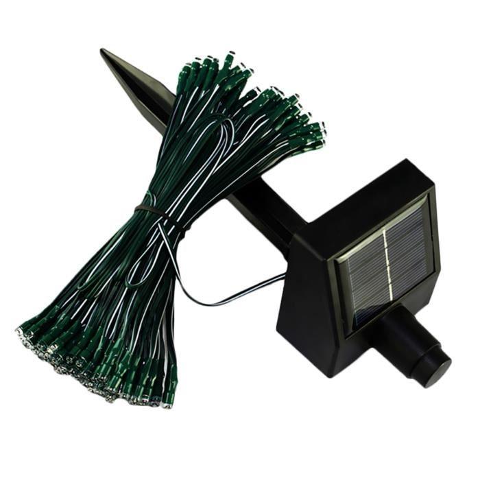 Guirlande de no l 100 led solaire pour d coration de f te for Panneau solaire pour decoration de noel
