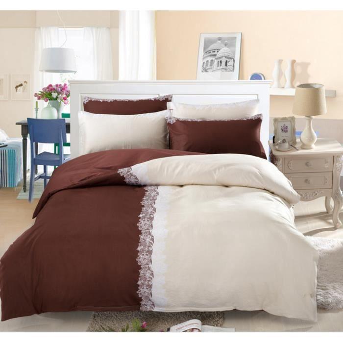 parure de lit 2 personnes housse de couette 2 taies 240 x 220 cm 049 achat vente parure de. Black Bedroom Furniture Sets. Home Design Ideas