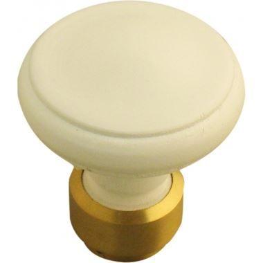 Bouton simple de porte int rieure en bois blanc r achat for Bouton de porte en bois