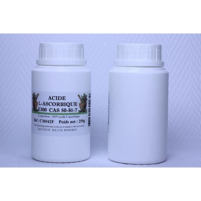 acide ascorbique pot pehd 250ml de 250 grammes achat vente d fense immunitaire acide. Black Bedroom Furniture Sets. Home Design Ideas