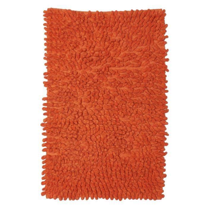 tapis de salle de bains bouclette orange 50x80 par dezenco achat vente tapis cdiscount. Black Bedroom Furniture Sets. Home Design Ideas