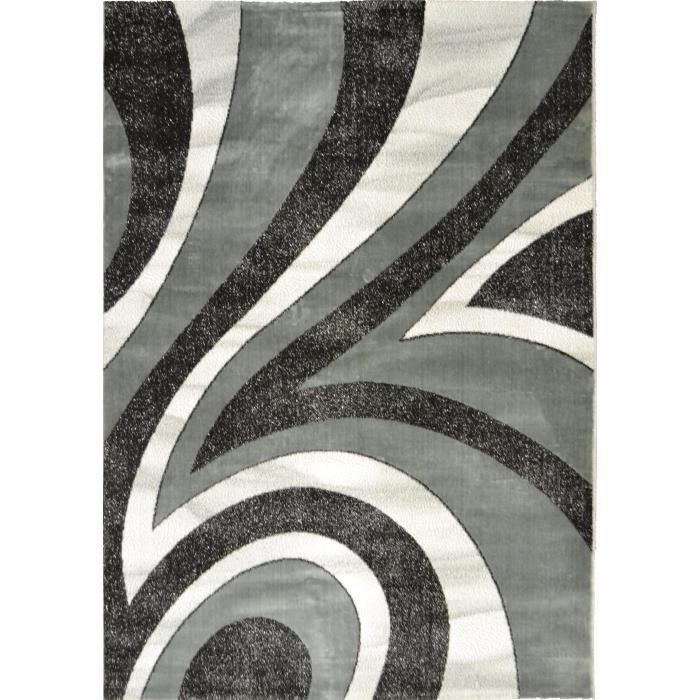 tapis 160x230 noir et blanc achat vente tapis 160x230 noir et blanc pas cher les soldes. Black Bedroom Furniture Sets. Home Design Ideas
