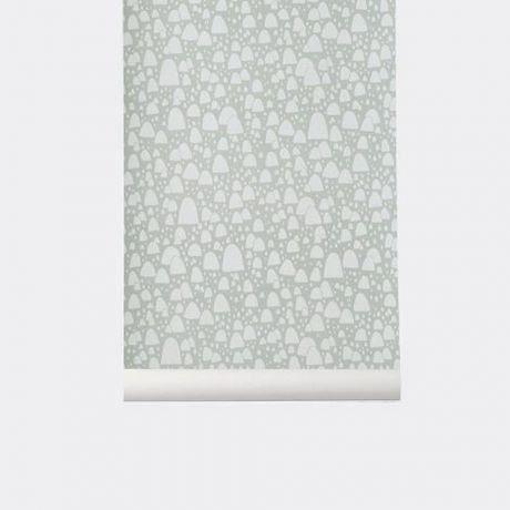 ferm living papier peint mountain tops ferm achat. Black Bedroom Furniture Sets. Home Design Ideas