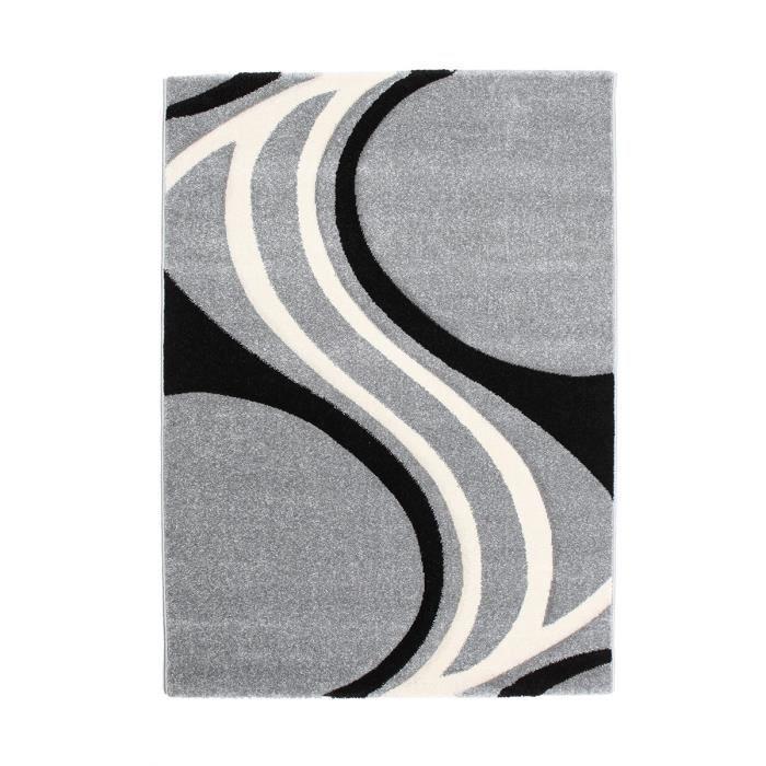 Finlandek tapis de salon nivala 160x230 cm gris et noir - Recherche tapis de salon ...