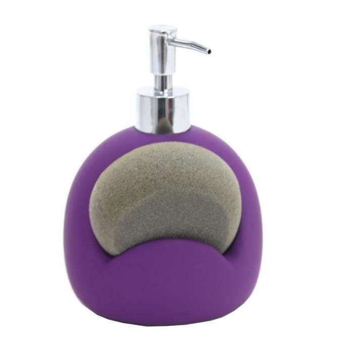 paris prix distributeur de savon et porte eponge violet achat vente distributeur de savon. Black Bedroom Furniture Sets. Home Design Ideas