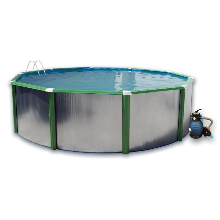 silver verte piscine en acier circulaire 550x120 achat. Black Bedroom Furniture Sets. Home Design Ideas