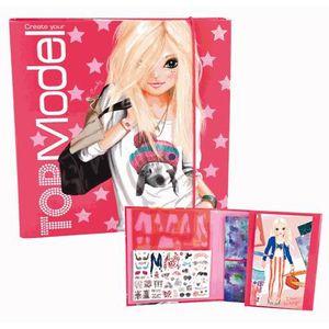 Top model carnet atelier cr atrice de mode achat - Album de coloriage top model ...