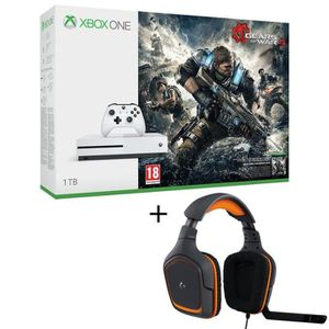 CONSOLE XBOX ONE NOUV. Xbox One S 1To Gears of War 4 + Micro-casque Gamer