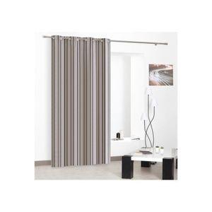 rideaux noir et beige achat vente rideaux noir et beige pas cher cdiscount. Black Bedroom Furniture Sets. Home Design Ideas