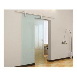 Porte coulissante en verre achat vente porte for Pose porte coulissante en applique
