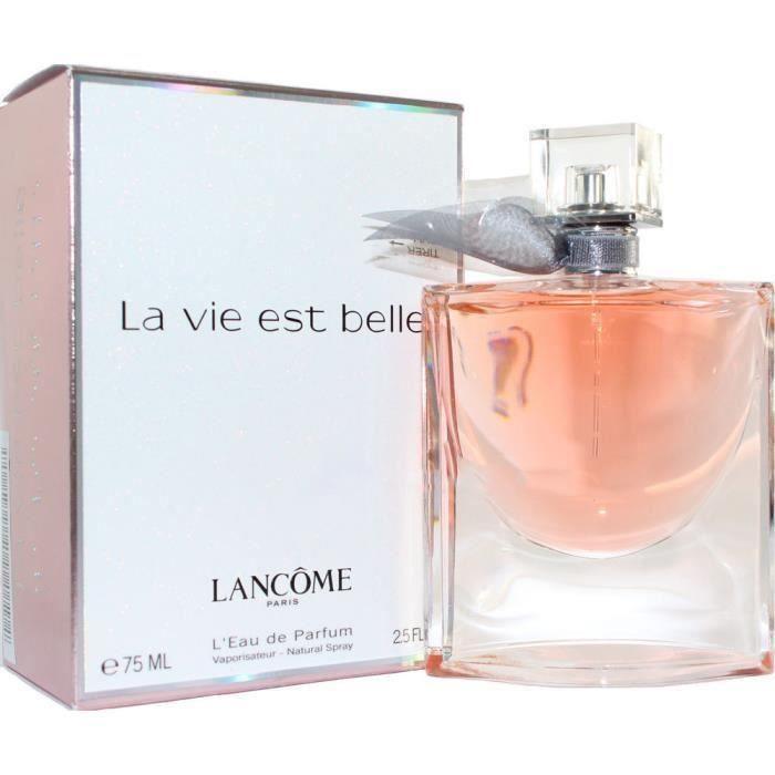 parfum pour femme la vie est belle by lancome edp 75ml neuf blister achat vente eau de. Black Bedroom Furniture Sets. Home Design Ideas