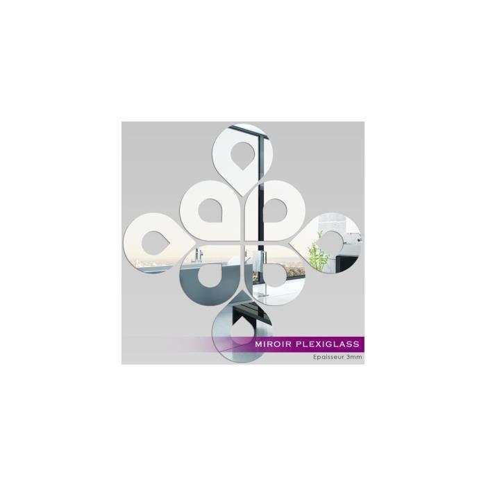 Miroir Plexiglass Acrylique Gouttes Design Ref Mir 158