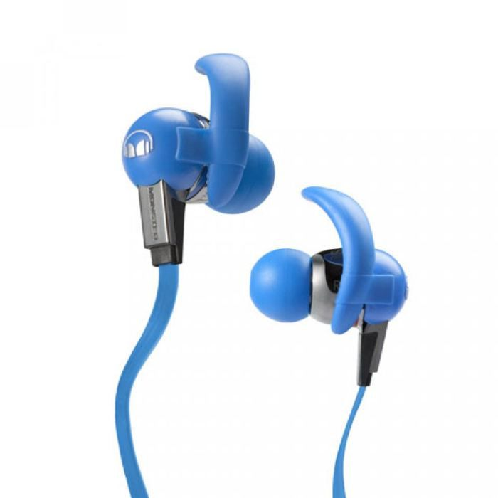 ecouteurs intra auriculaires monster isport bleu casque couteur audio avis et prix pas. Black Bedroom Furniture Sets. Home Design Ideas