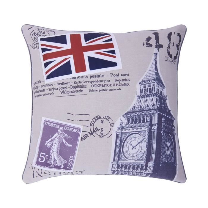Oxford flag coussin 40x40 taille 40 x 40 x 7 cm - Taille coussin standard ...