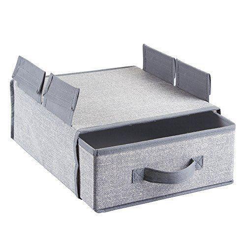 interdesign 04023eu aldo rangement suspendre pour penderie gris achat vente boite de. Black Bedroom Furniture Sets. Home Design Ideas