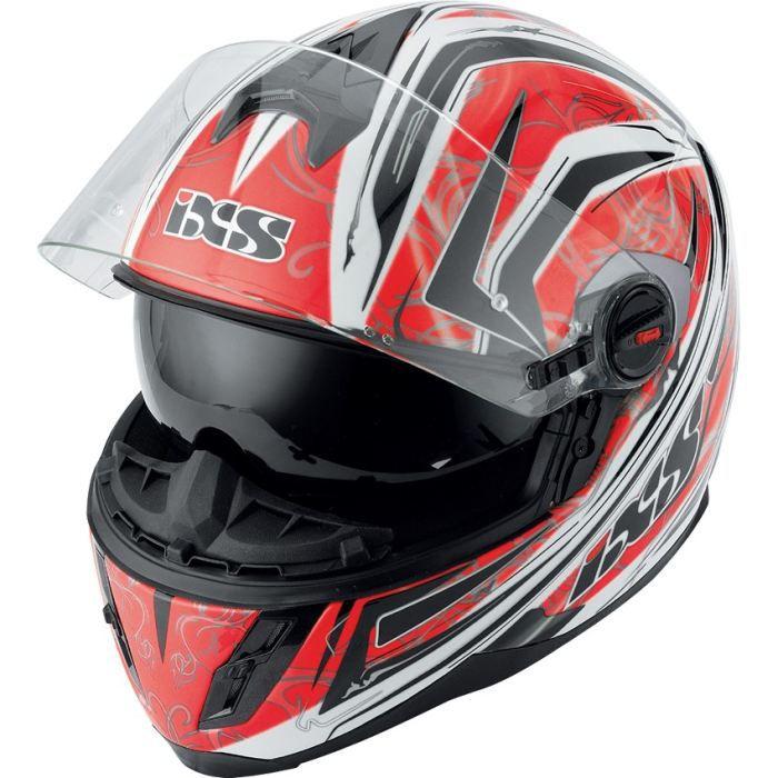 Ixs casque int gral hx 397 blaze rouge noir blanc achat for Interieur paupiere inferieure rouge