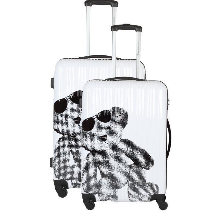 ensemble de 2 valises rigide lulu castagnette achat vente set de valises ensemble de 2. Black Bedroom Furniture Sets. Home Design Ideas
