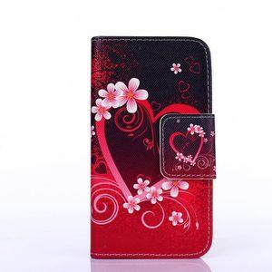 HOUSSE - ÉTUI  fleurs rouges et coeurs Housse de protection Coqu