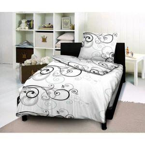 parure draps noir achat vente parure draps noir pas cher cdiscount. Black Bedroom Furniture Sets. Home Design Ideas