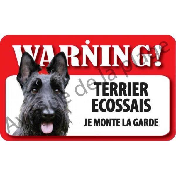 plaque attention au chien terrier 201 cossais achat vente plaque de porte lettre decorative