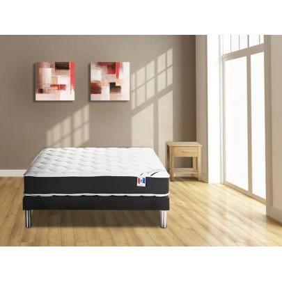 ensemble sommier et matelas ressorts ensach s i achat vente ensemble literie cdiscount. Black Bedroom Furniture Sets. Home Design Ideas