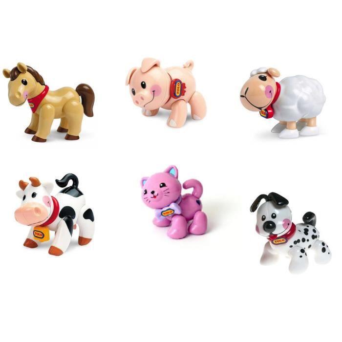 jouet 1er age jeu veil b b gar on fille lots 6 animaux. Black Bedroom Furniture Sets. Home Design Ideas