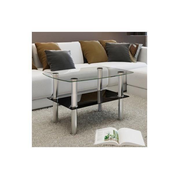 Superbe table basse en verre 2 plateaux achat vente - Table basse en verre 2 plateaux ...