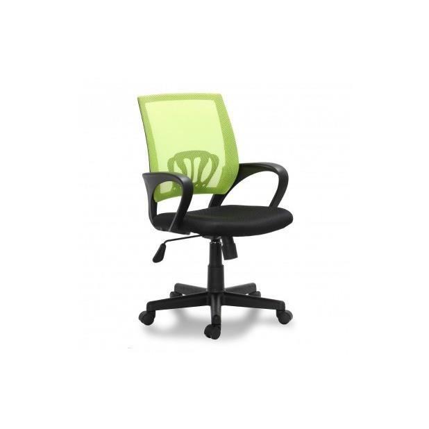 Si ge de bureau vert ergonomique avec accoudoirs achat for Meilleur siege de bureau