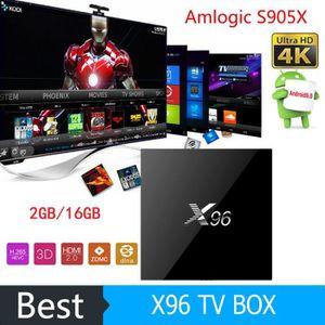 Amlogic X96 S905X Android 6.0 TV BOX Quad Core 2 Go 16 Go Entièrement Chargé KODI X96 Boîte à téléviseur Smart Set Top Box