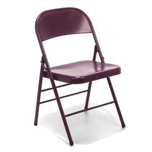Chaises violet achat vente chaises violet pas cher - Chaise pliante london ...