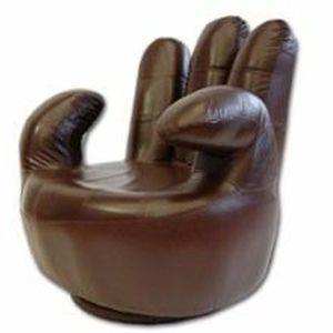 fauteuil main imitation cuir marron fonc achat vente fauteuil cdiscount. Black Bedroom Furniture Sets. Home Design Ideas