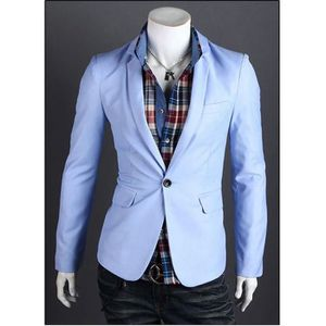 hommes blazer mode slim gilet de costume bleu ciel bleu ciel achat vente gilet de costume. Black Bedroom Furniture Sets. Home Design Ideas
