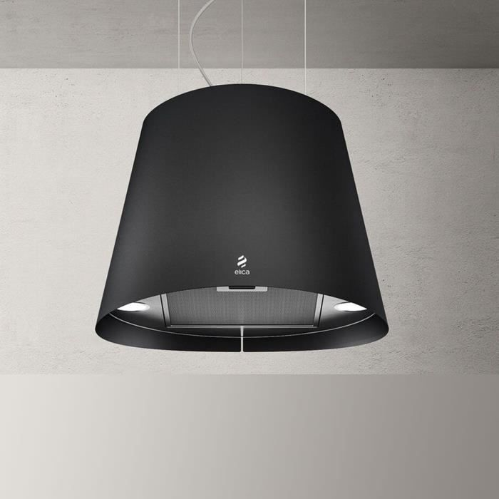 hotte cuisine elica suspendue inox noir juno achat. Black Bedroom Furniture Sets. Home Design Ideas
