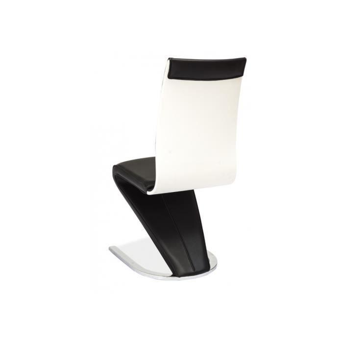 Lot de 2 chaises design henry 134 noir blanc achat for Chaise noir blanc