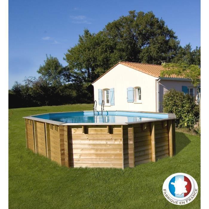 Vermela piscine bois 6 72 x 4 72 x 1 46 m achat vente for Piscine sunbay bois
