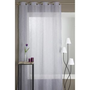 rideau effet lin achat vente rideau effet lin pas cher soldes cdiscount. Black Bedroom Furniture Sets. Home Design Ideas