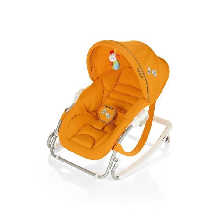 brevi transat gaia avec capote orange orange achat vente transat balancelle 8011250557345
