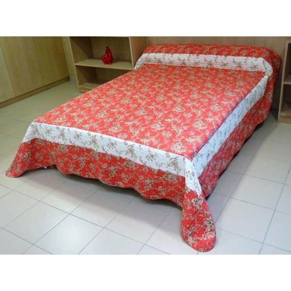 couvre lit boutis matelass 260x250 cm alice achat. Black Bedroom Furniture Sets. Home Design Ideas