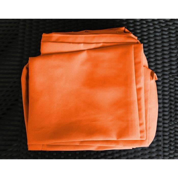 Housses pour le salon de jardin hossegor orange achat vente housse meuble jardin housses for Housse salon de jardin resine tressee