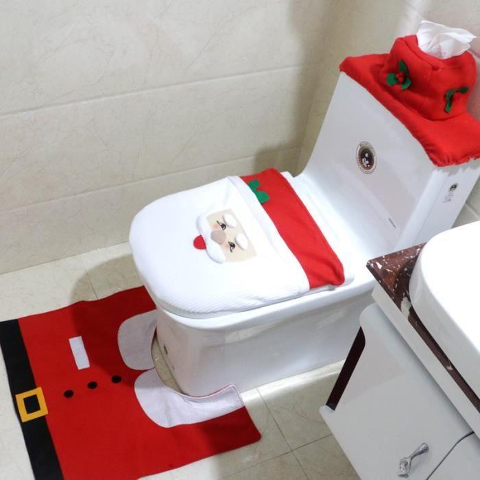 Set 3pcs housse de siège toilette comme décoration de la fête du ...