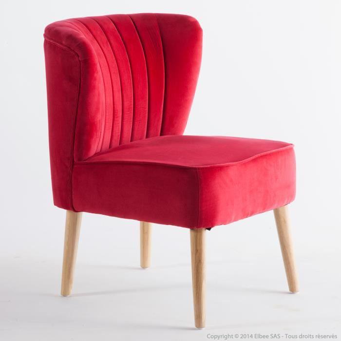 fauteuil tissu velours avec pieds bois style vintage fifties rockabilly achat vente fauteuil. Black Bedroom Furniture Sets. Home Design Ideas