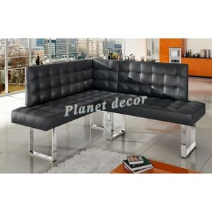 banquette coin repas angle droit simili cuir favori. Black Bedroom Furniture Sets. Home Design Ideas