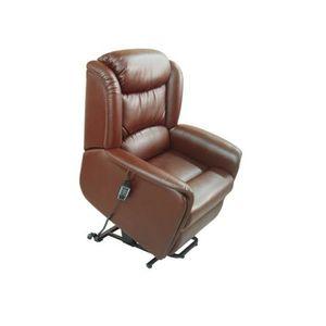 fauteuil releveur cuir achat vente fauteuil releveur cuir pas cher soldes cdiscount. Black Bedroom Furniture Sets. Home Design Ideas