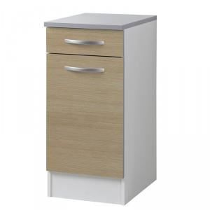 Meuble chene clair et blanc achat vente meuble chene for Meuble par nature