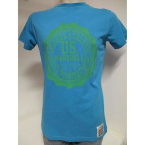 T-SHIRT US MARSHALL HOMME T-SHIRTS TURQUOISE TAILLE W/L /U