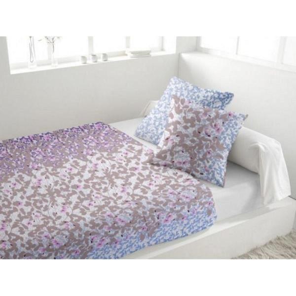 parure drap plat drap housse 2 taies d oreiller flanelle bouquet bleu achat vente parure de. Black Bedroom Furniture Sets. Home Design Ideas