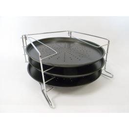 plaque de cuisson pour pizza coffret de 3 achat vente feuille de cuisson plaque de cuisson. Black Bedroom Furniture Sets. Home Design Ideas