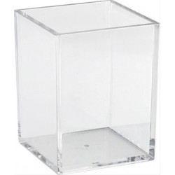verre carr acrylique achat vente vase soliflore acrylique verre cadeaux de no l cdiscount. Black Bedroom Furniture Sets. Home Design Ideas