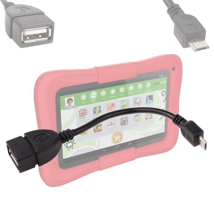 adaptateur usb microusb pour tablette kids kurio 7 prix. Black Bedroom Furniture Sets. Home Design Ideas